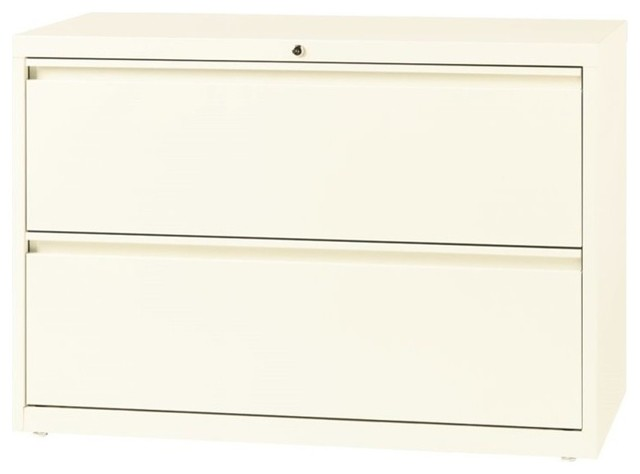 Hirsh 2-Drawer Lateral File Cabinet in Cloud - Contemporary - Filing Cabinets - by Homesquare