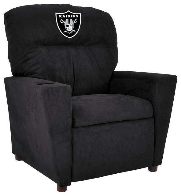 Oakland Raiders Kids Microfiber Recliner Contemporary Recliner Chairs