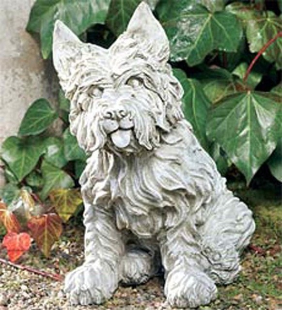 Westie Dog Statue Dover White Contemporary Garden Statues And