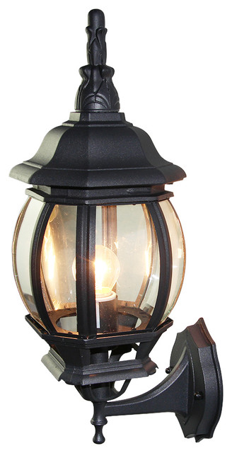 Cottage Outdoor Patio Die-Cast Aluminum Wall Lantern - Traditional - Outdoor Wall Lights And ...