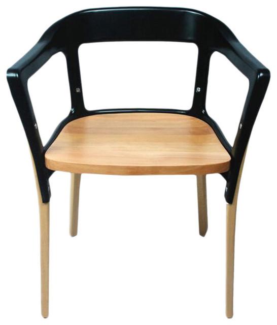 Modmade Jasper Steel Wood Chair Amp Reviews Houzz