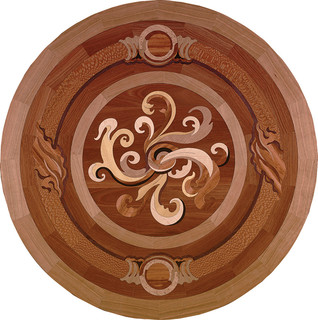 Compassion Wood Medallion - Traditional - Floor Medallions And Inlays - by Oshkosh Designs
