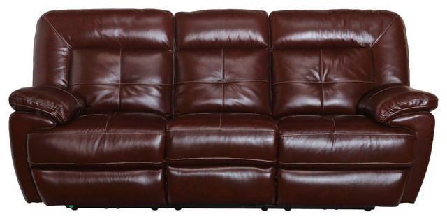 Stupendous Edwin Top Grain Leather Reclining Sofa Manual Gmtry Best Dining Table And Chair Ideas Images Gmtryco