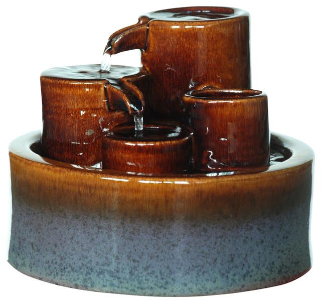 Shop houzz welland industries llc 3 tier tabletop - Japanese indoor water fountain ...