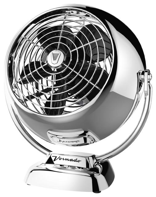 Vfan Jr Vintage Air Circulator, Chrome.