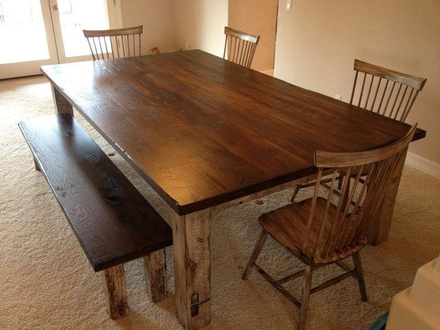 Dining Table Large Reclaimed Oak Farmhouse Table Farmhouse Dining Table