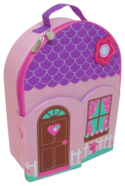 Portable Dollhouse, Backpack Contemporary Kids Toys And Games