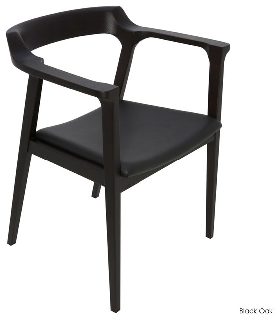 Caitlan Dining Armchair Black Oak