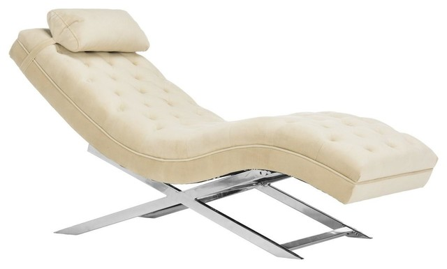 Safavieh Monroe Chaise With Headrest Pillow