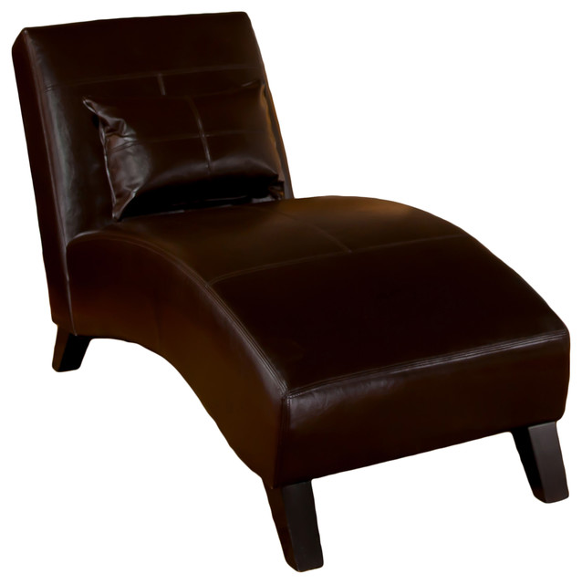Brisbane Curved Lounge Chair In Brown Leather