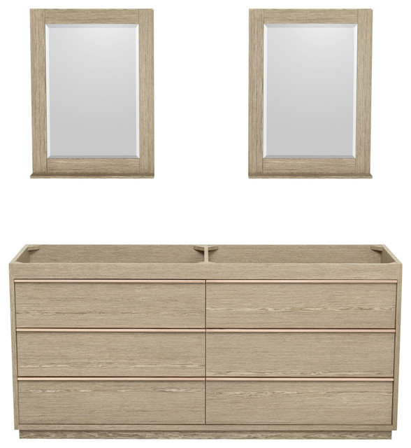 bathroom vanity no sink. Naya 72  Ash Gray Double Vanity No Countertop Sink 24 Contemporary Bathroom Vanities