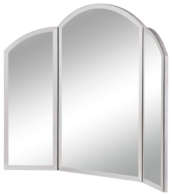 """Dressing Mirror 32""""x24"""" Clear Mirror By Elegant, Silver Finish."""