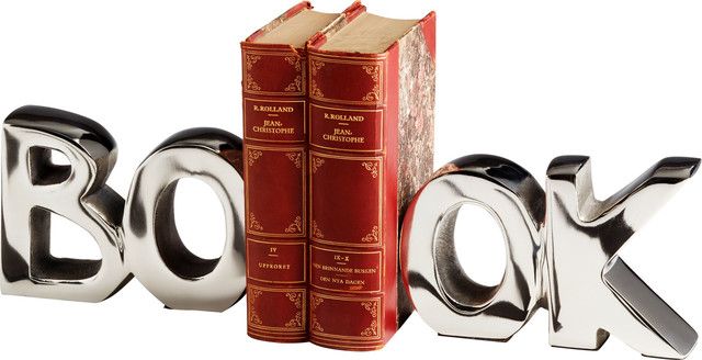 The Book Bookend in Nickel