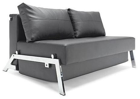 Innovation Cubed Deluxe Sofa Bed Black Leather Textile