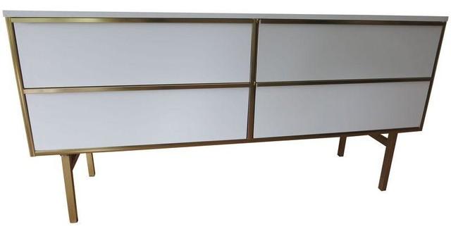 Furniture Guild Of California White Dresser Contemporary Storage Cabinets By Chairish