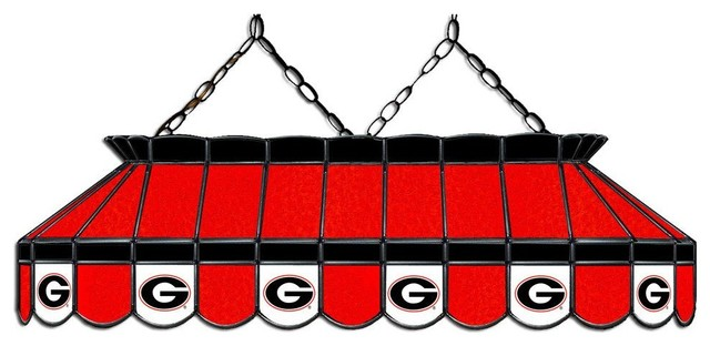 Georgia Bulldogs 40 Rectangular Stained Glass Lamp