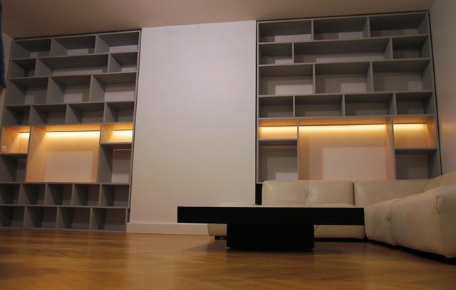 biblioth ques moderne paris par thibaut and thewood. Black Bedroom Furniture Sets. Home Design Ideas