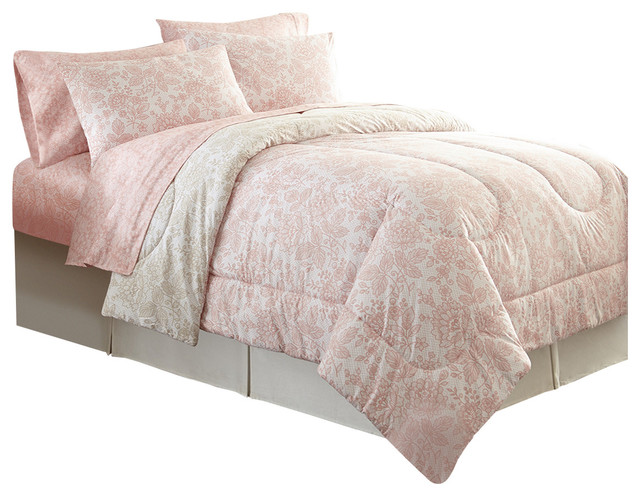 Shavel Home Products Enchantment Rose Micro Flannel
