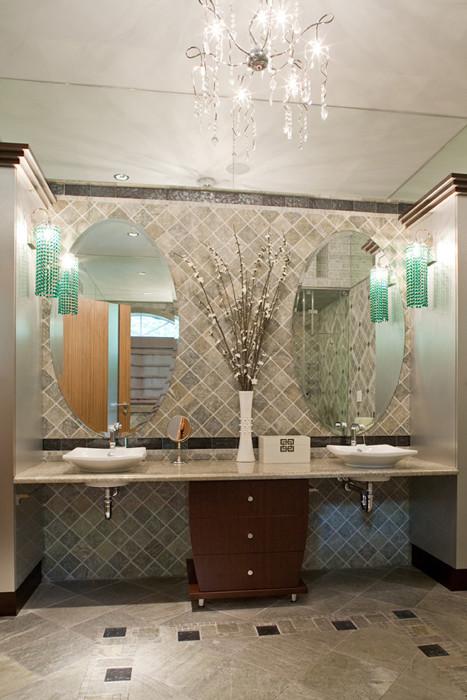 Master Bath- Modern Glamour modern bathroom