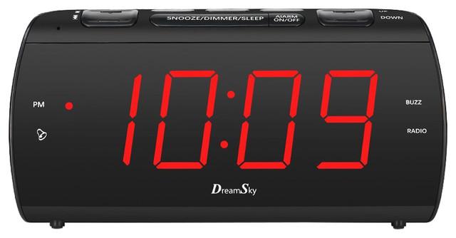 Dreamsky Large Alarm Clock Radio With Fm Radio And Usb