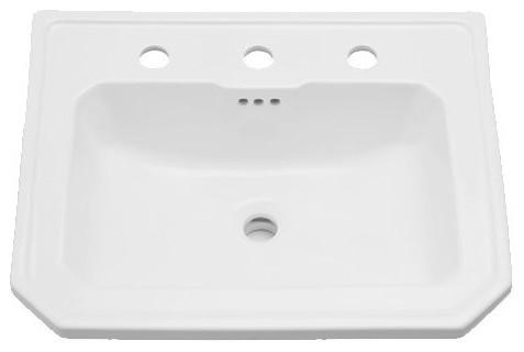 Amberley 22 3 8  Porcelain Drop  Bathroom Sink  Overflow traditional. Amberley 22 3 8  Porcelain Drop  Bathroom Sink  Overflow