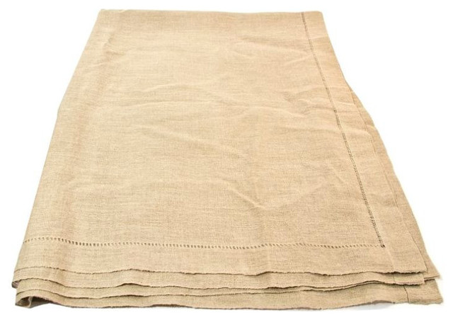 Linen Tablecloth In Beige   $1,955 Est. Retail   $1,369 On Chairish.com