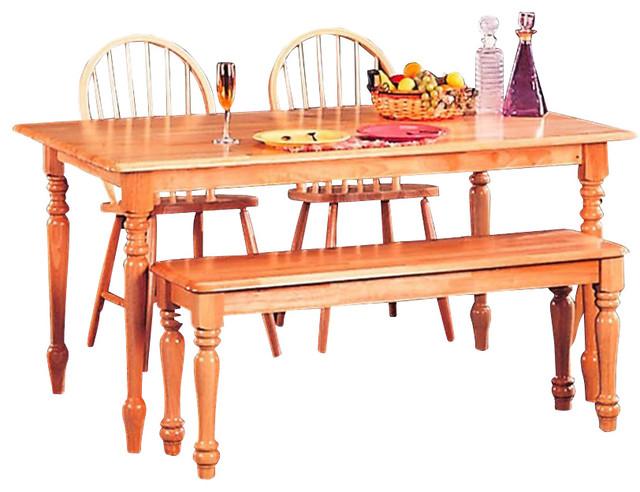Coaster Damen Rectangular Leg Dining Table In Warm Natural