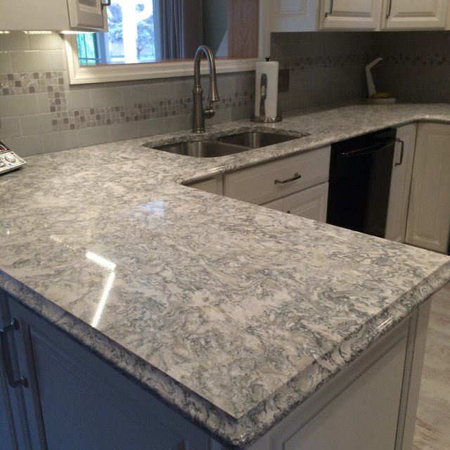 Cambria Quartz Berwyn On White Cabinets