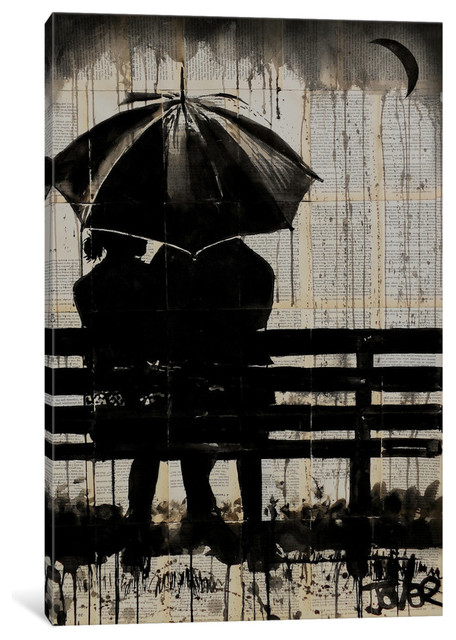 """""""Moments Under The Crescent Moon"""" by Loui Jover, 18x12x0.75"""""""