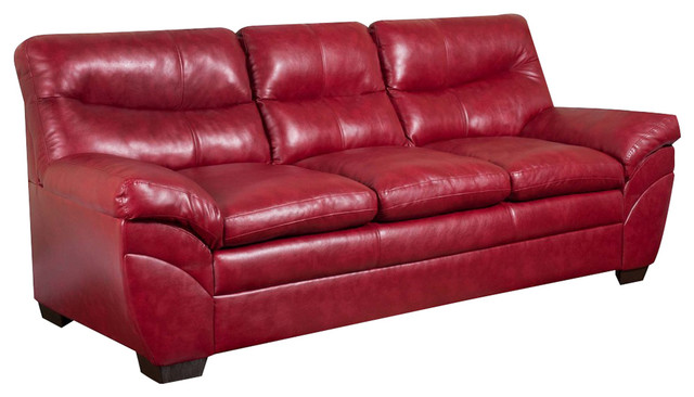 Soho bonded leather sofa 9515 03 cardinal sofas by for Edit 03 sofa