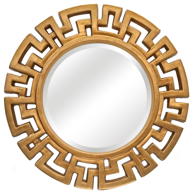 Athena Round Decorative Mirror.