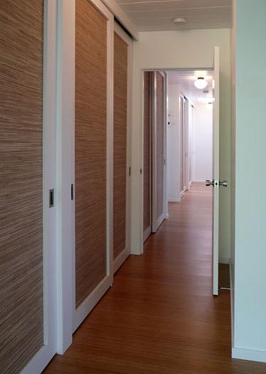 klopf architecture hallway with lights on midcentury hall architecture ideas mirrored closet doors