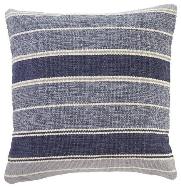 Decorative Denim Pillows : Ashley Biddleferd Throw Pillow Cover, Denim - Contemporary - Decorative Pillows - by Homesquare