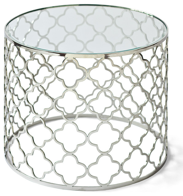 Silver Round End Table Designs