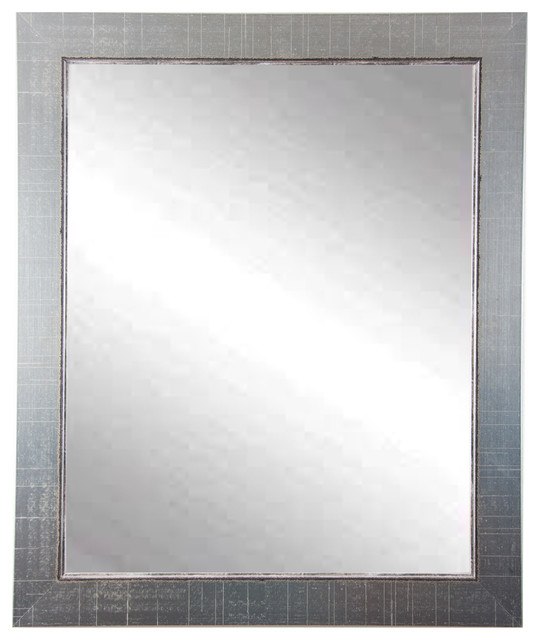 "Silver Lined Wall Mirror, 31.5""x37.5""."
