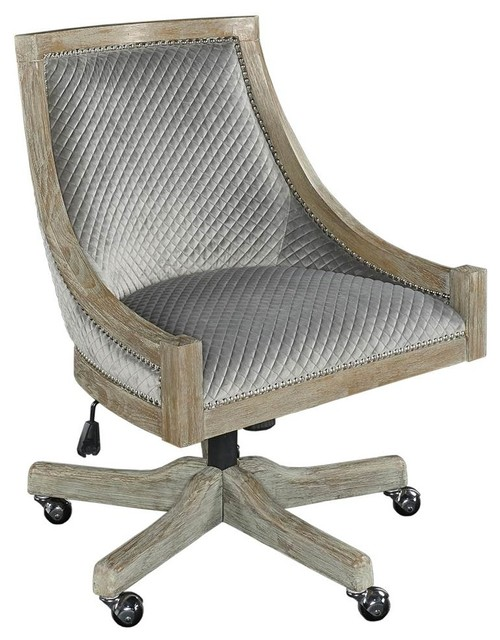Mimi Quilted Office Chair in Gray