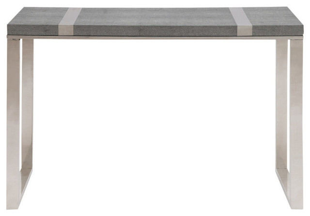 Stainless Steel Vinyl Console Table.