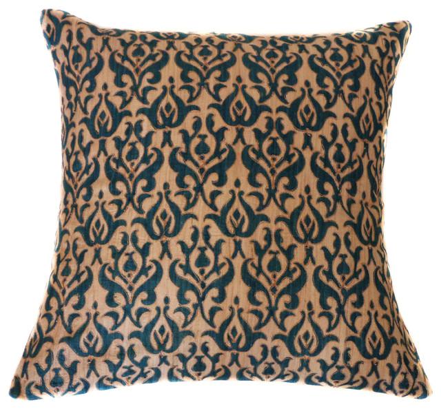 Tussar Blue Pillow.