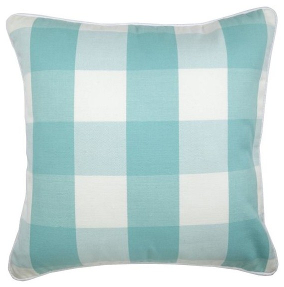 Blue Throw Pillow Cover Gingham