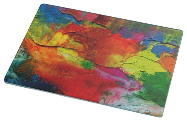 how to install a bathroom cabinet abstract acrylic rainbow painted background cutting board 25407