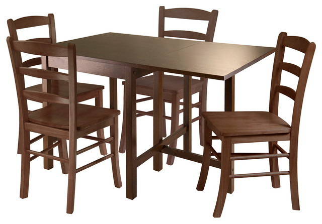 Winsome 5 Pc Drop Leaf Table Set Dining Sets Houzz