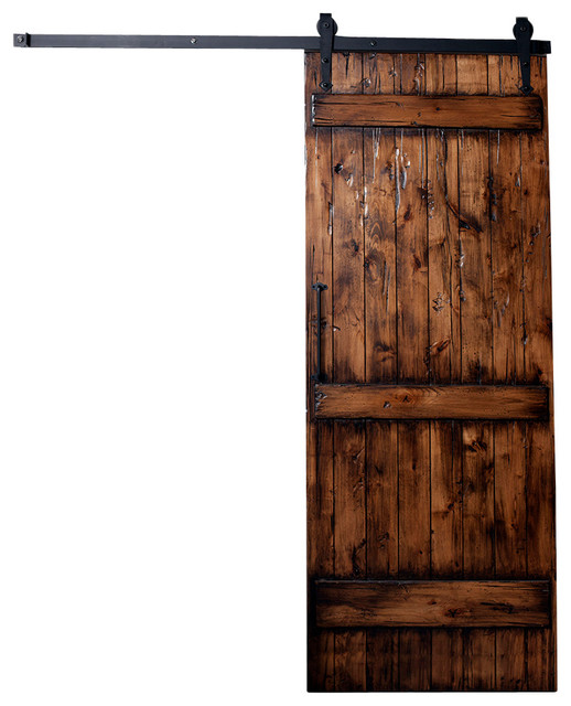 Ranch Barn Door Distressed Rustic Interior Doors By