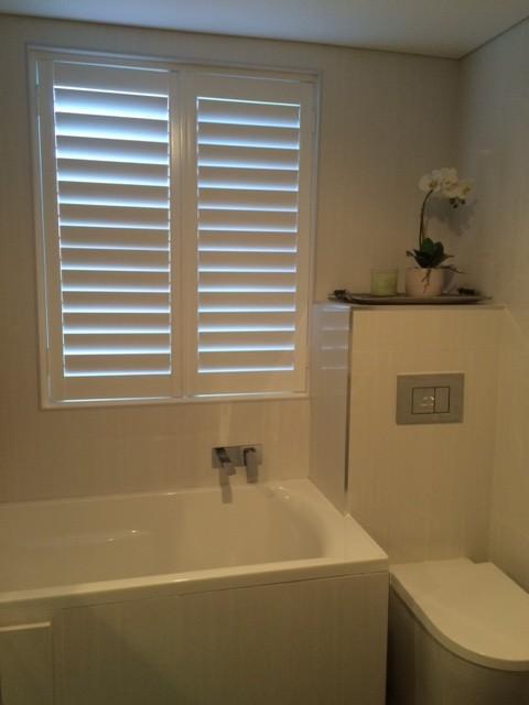 Plantation Shutters Diy Iseekblinds Customer Experiences Contemporary Bathroom Melbourne