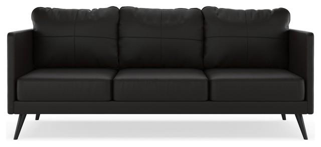 Monroe Sofa Vegan Leather, Onyx