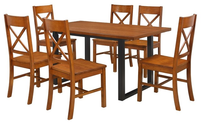 Outstanding Madison 7 Piece Dining Set Antique Brown Download Free Architecture Designs Grimeyleaguecom