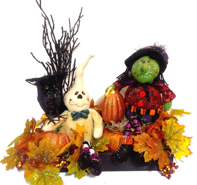 "22""x18"" Halloween Witch Ghost Centerpiece Table Decor."