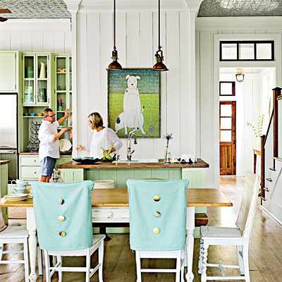 Coastal Living eclectic kitchen