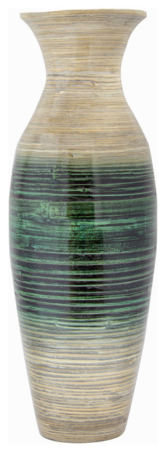 Kelly 29 Quot Spun Bamboo Floor Vase Contemporary Vases By Heather Ann Creations