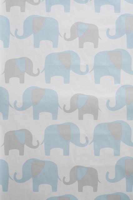Elephant Peel and Stick Wallpaper Contemporary  : contemporary wallpaper from www.houzz.com size 426 x 640 jpeg 37kB