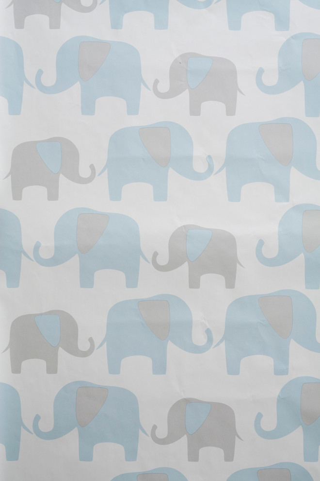 Elephant Peel And Stick Wallpaper Contemporary Wallpaper By American Wallpaper Design